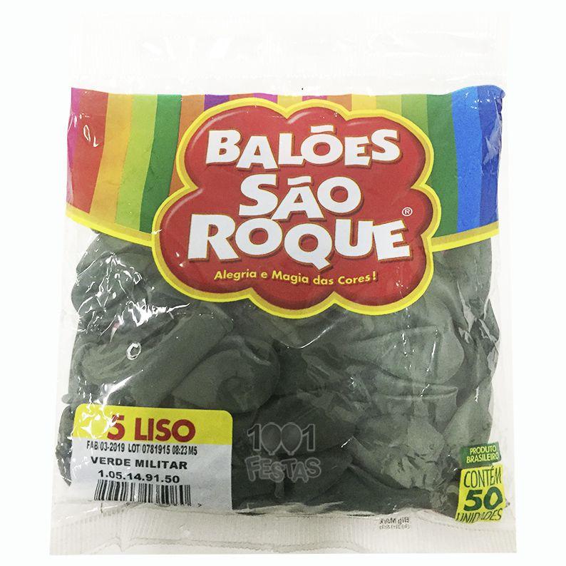 Balão Verde Militar N05 50 unid. São Roque