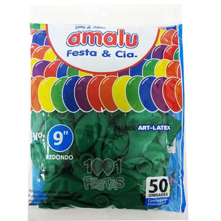 Balão Verde N09 50 unid Amalu