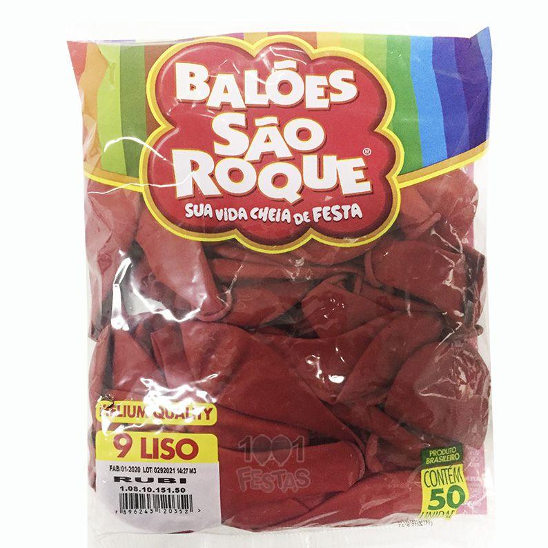 Balão Rubi N09 50 unid São Roque