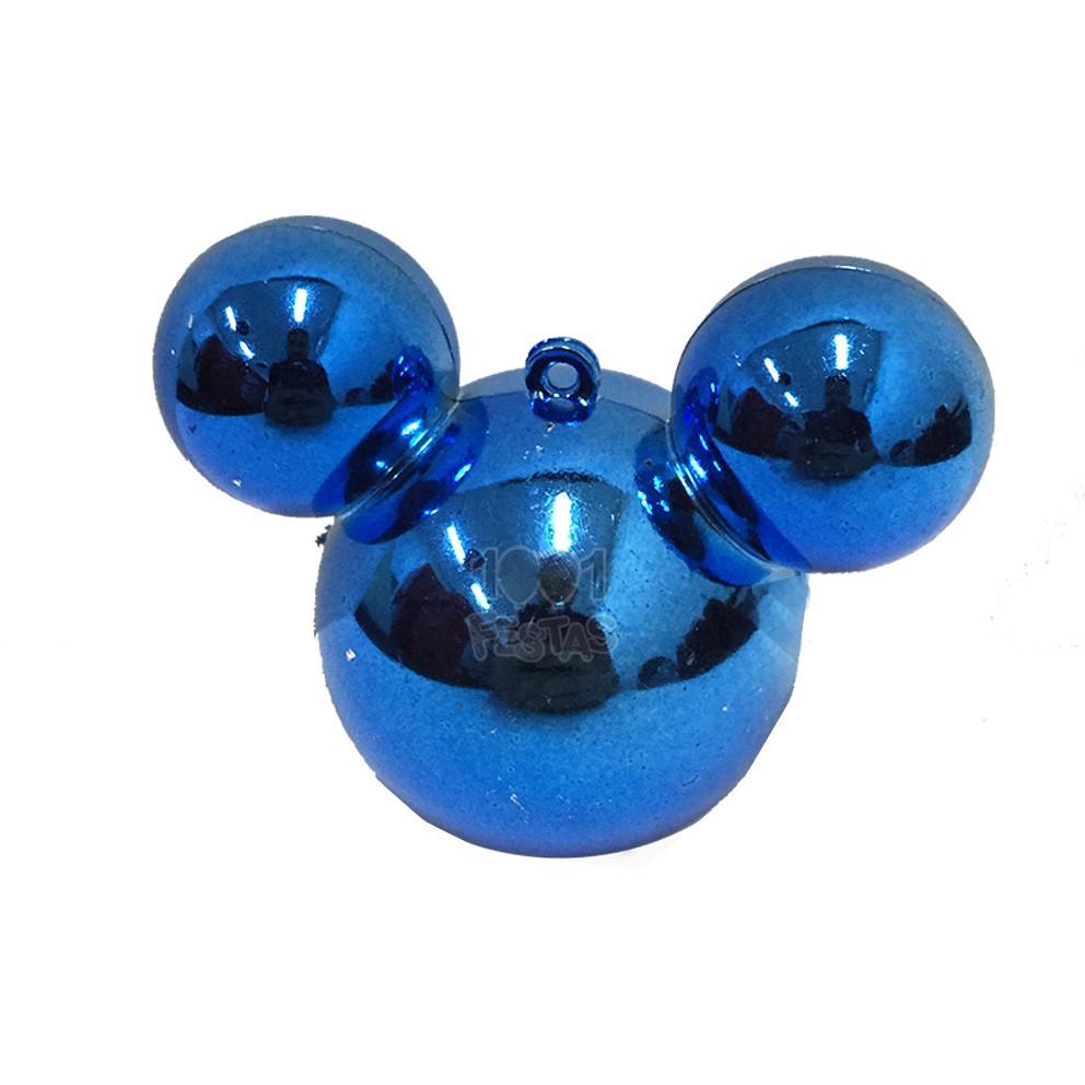 Baleiro Mouse Metal Azul C 03 unid