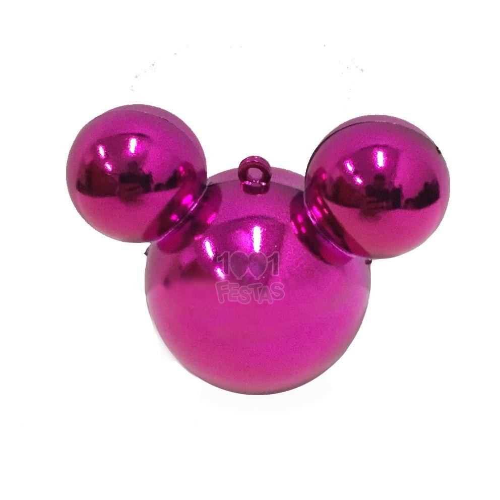 Baleiro Mouse Metal Rosa C 03 unid
