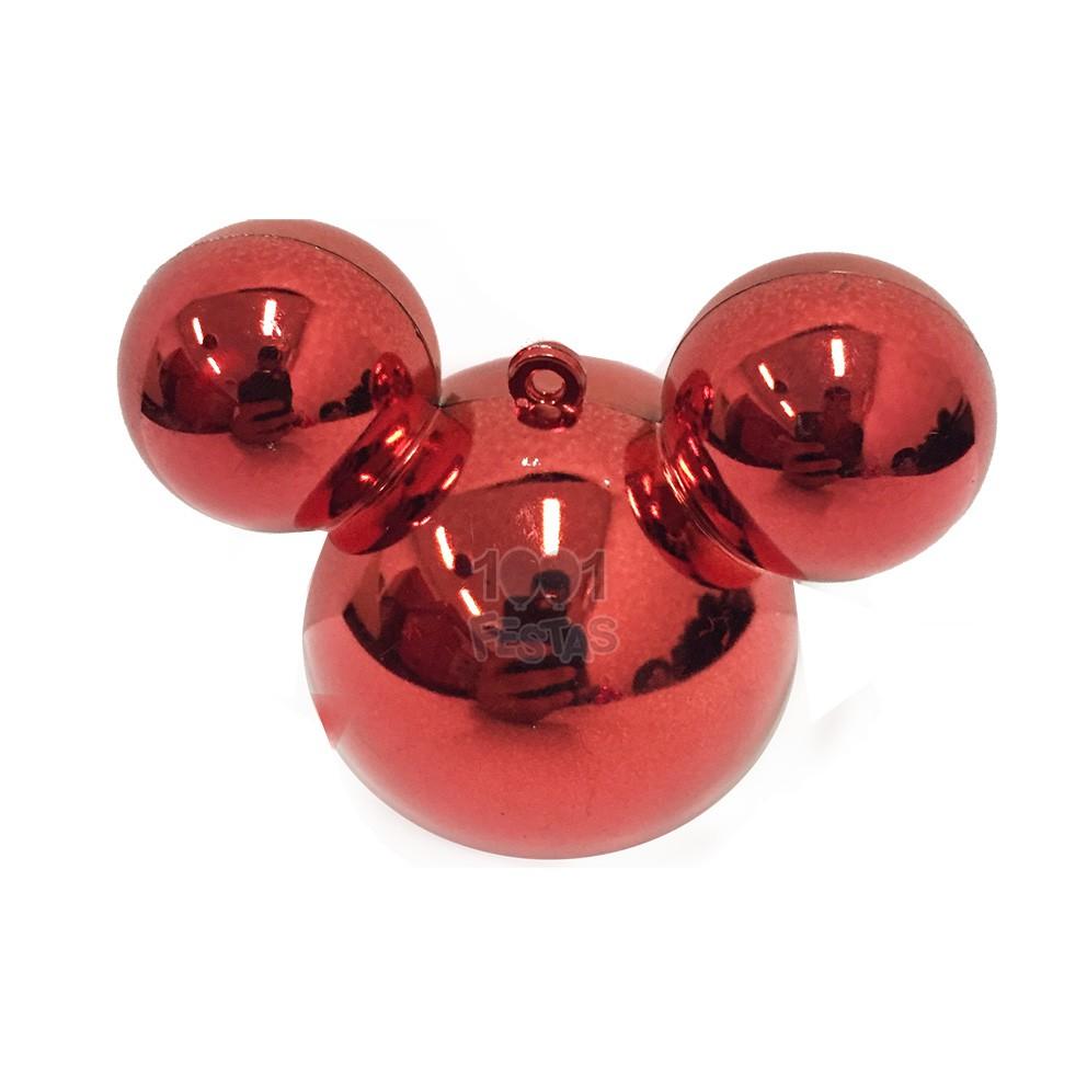 Baleiro Mouse Metal Vermelho C 03 unid