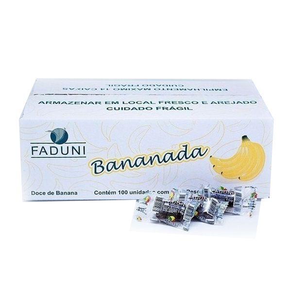 Bananada Cristalizada 100x 16g Faduni