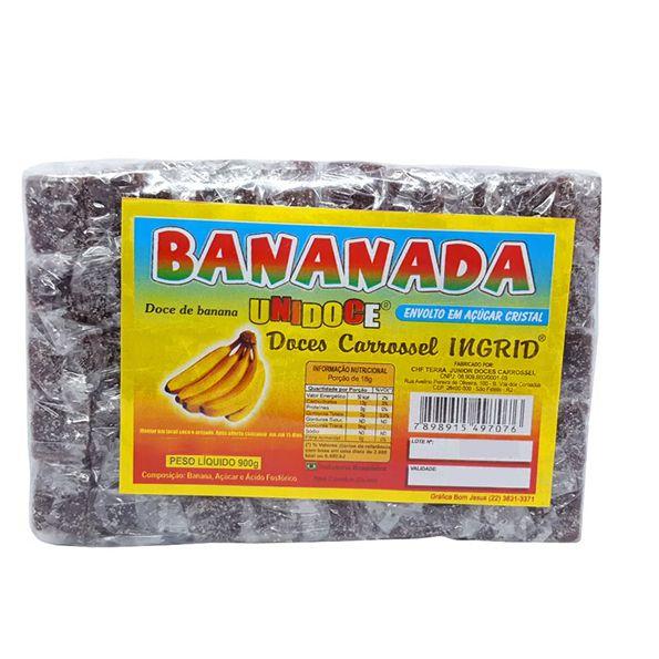 Bananada Unidoce Cristal 900g Carrossel