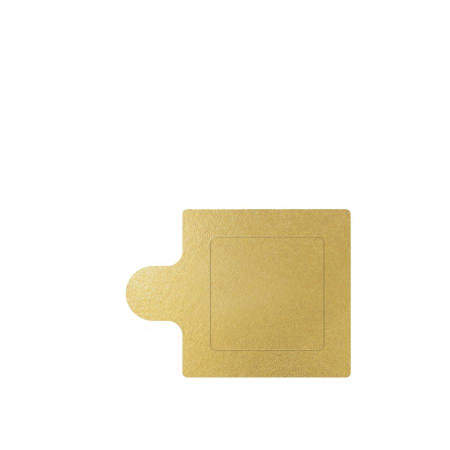 Base de doce Quadrada Ouro 6cm c/20 Ultrafest