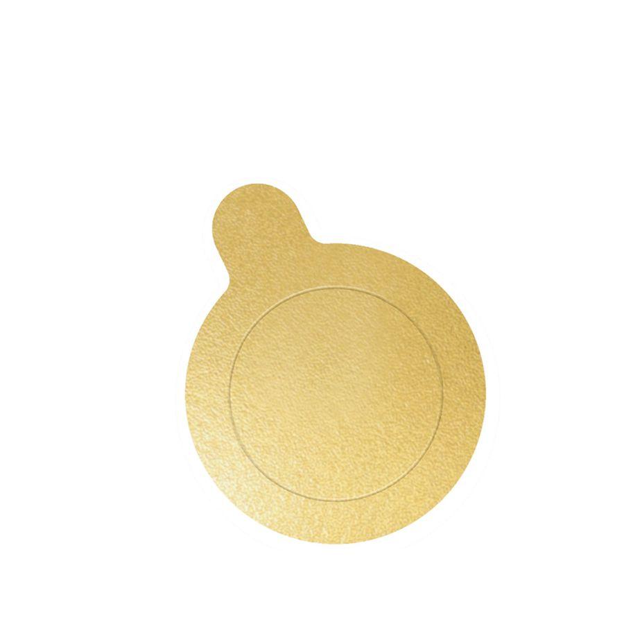 Base de Doce Redonda Ouro 8cm c/20 Ultrafest