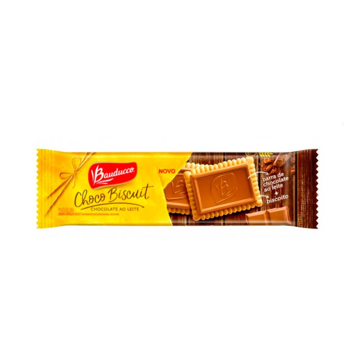 Biscoito Choco Biscuit Chocolate Ao Leite 80g Bauducco