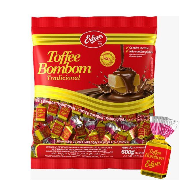 Bombom Toffee 500g Chocolate Erlan