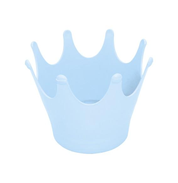 Cachepot Coroa Azul Claro Leitoso