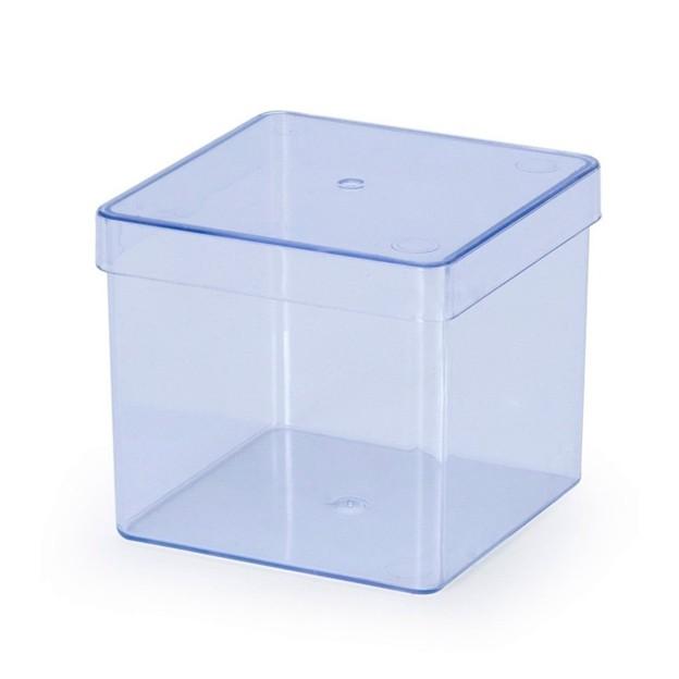 Caixa Acrílica 8cm x 8cm C 01 unid Transparente