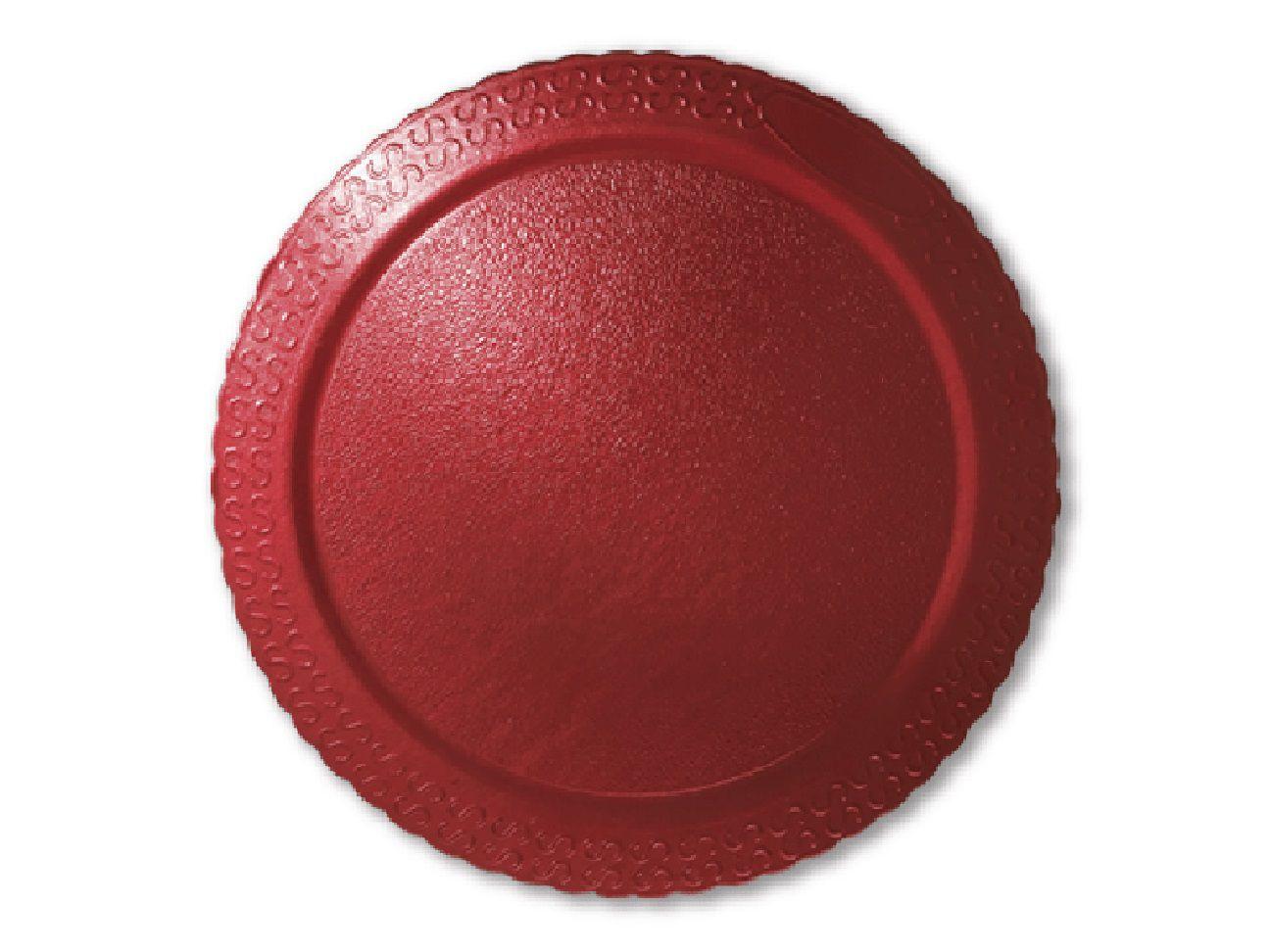 Cake Board Laminado Redondo Vermelho 28cm Ultrafest