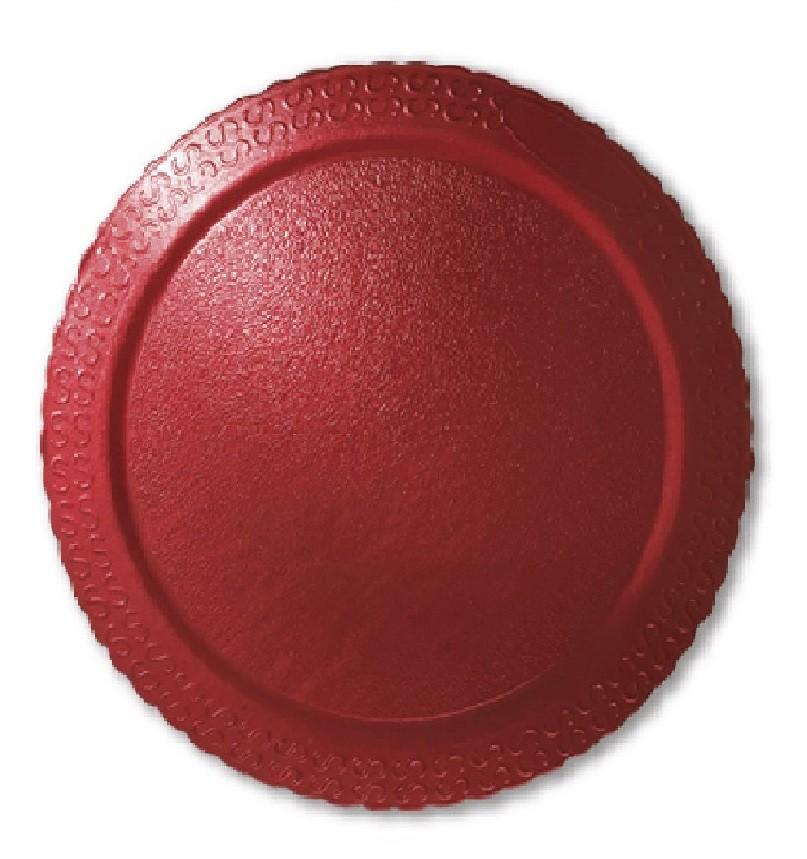 Cake Board Laminado Redondo Vermelho 32cm Ultrafest