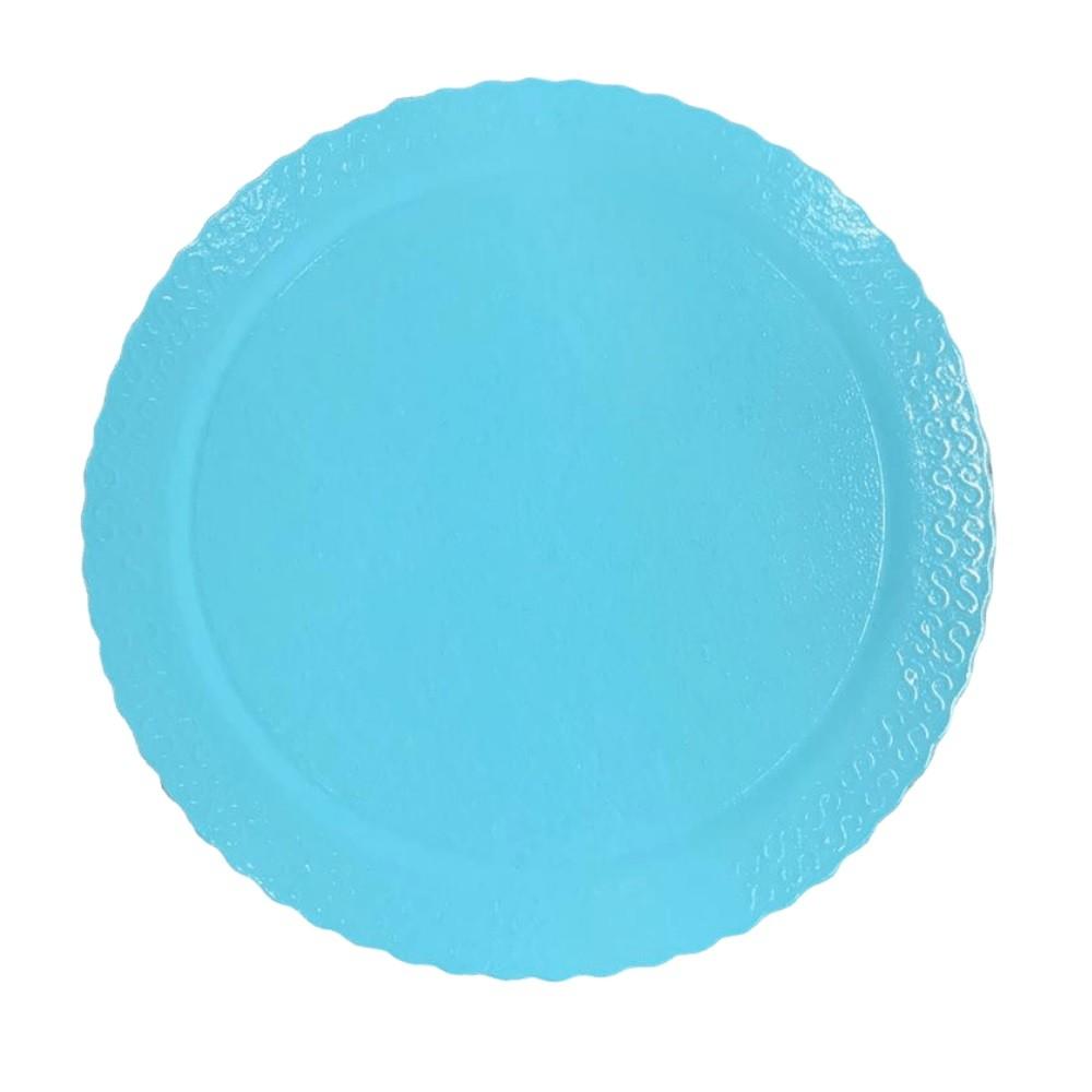 Cake Board  Redondo  Azul Claro 32cm Ultrafest