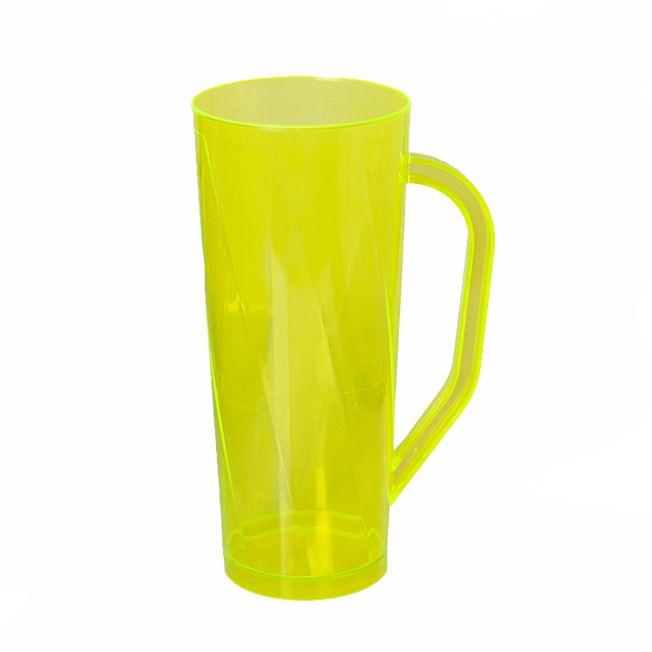 Caneca 400ml  Twister Amarelo Neon Translúcido