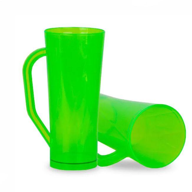Caneca 400ml Twister Verde Neon Translúcido