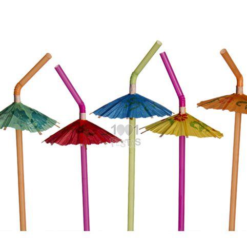 Canudo Guarda-chuva Sortido 12 unid