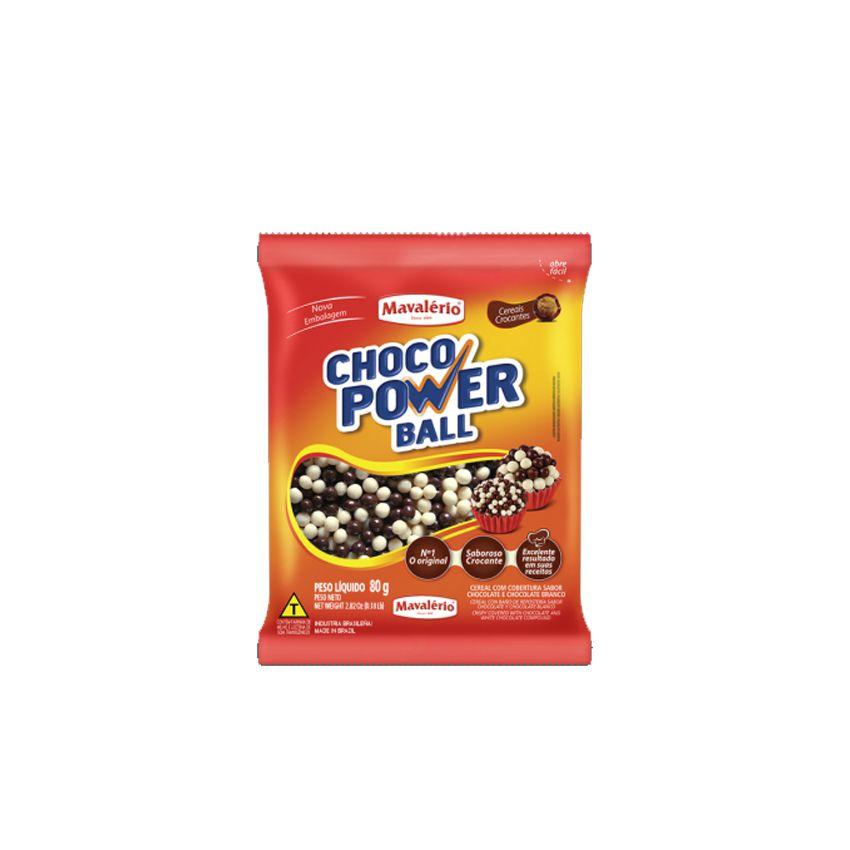 Cereal Drageado Mini ao Leite e Branco 80g Choco Power Ball