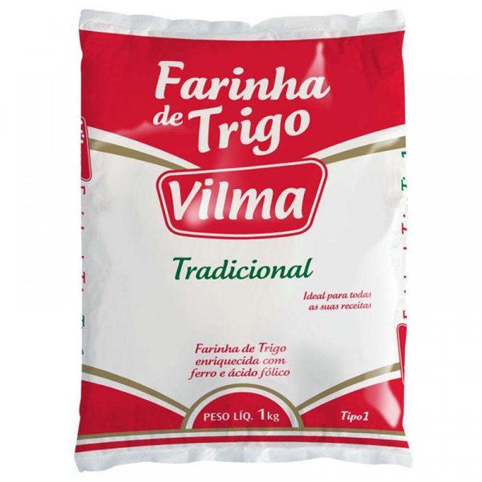 Farinha de Trigo Especial Sem Fermento 1kg Vilma