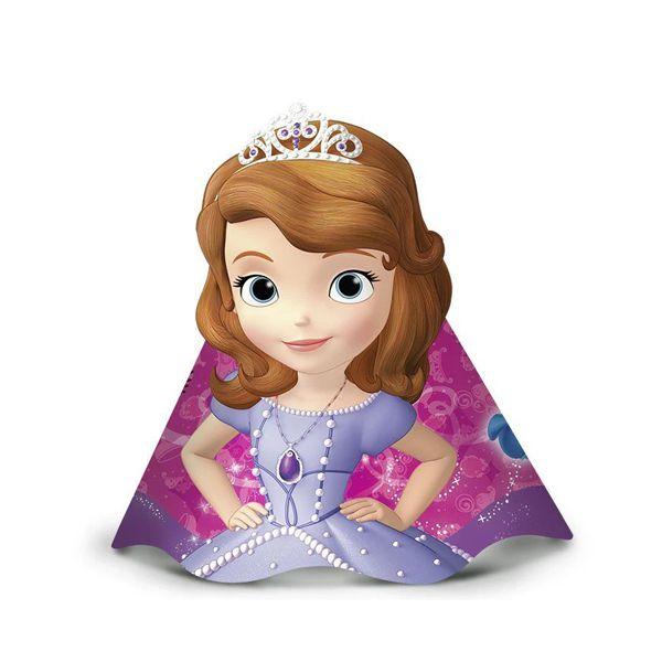 Chapéu Princesinha Sofia C 08 unid Regina