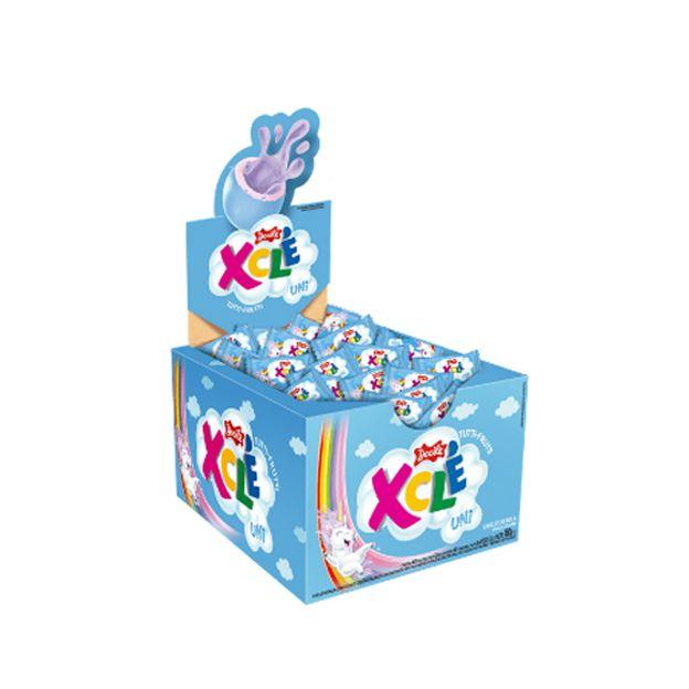 Chicle X-Clé Unicórnio Tutti-Frutti 200g 40 unid Docile