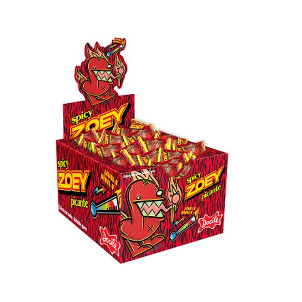 Chicle Zoey Picante 160g 40 unid Docile