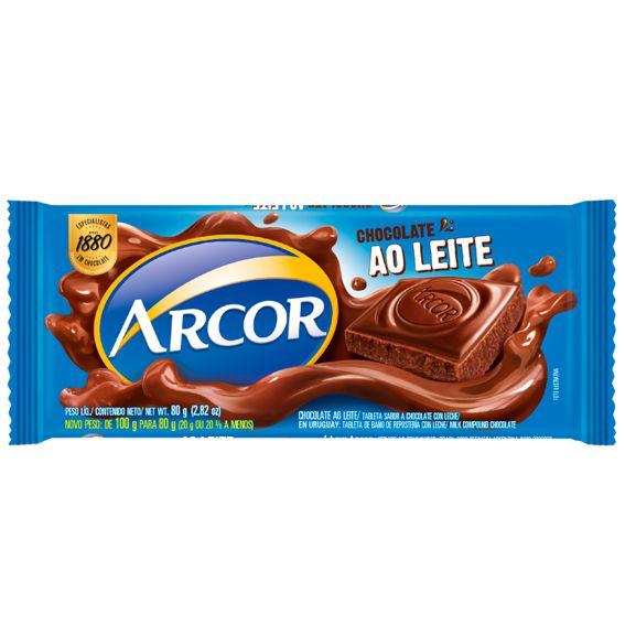 Chocolate Ao Leite 80g Arcor