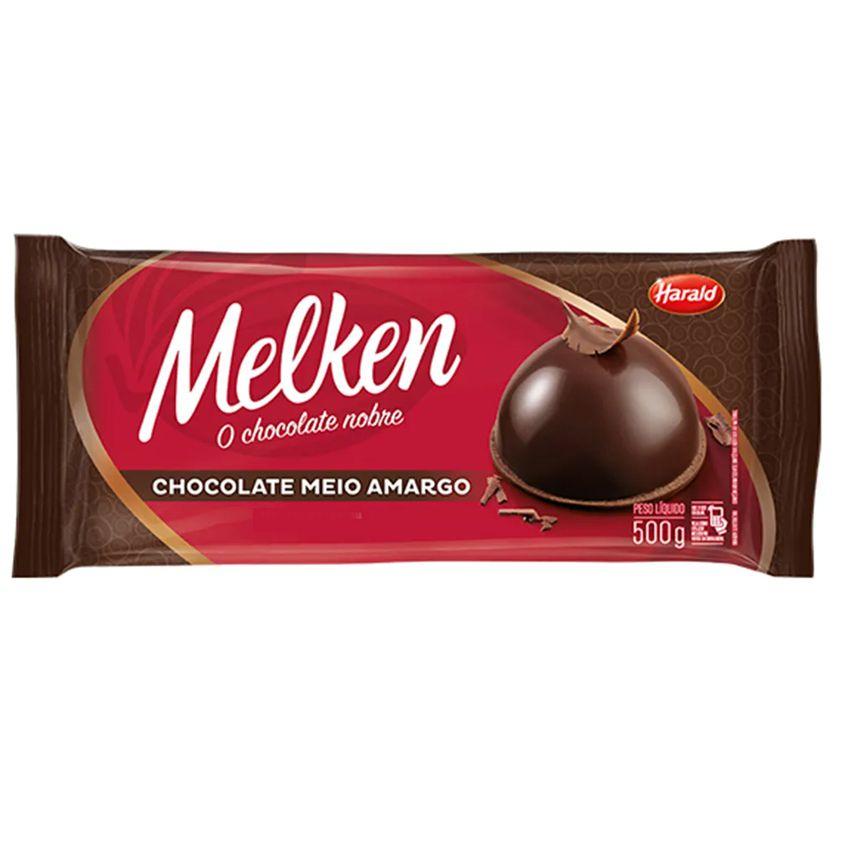Chocolate Barra Meio Amargo 500g Harald Melken