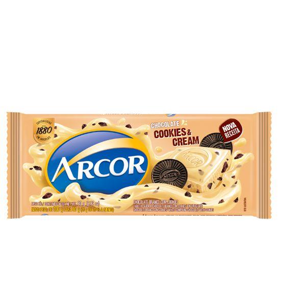 Chocolate Branco com Cookies 80g Arcor