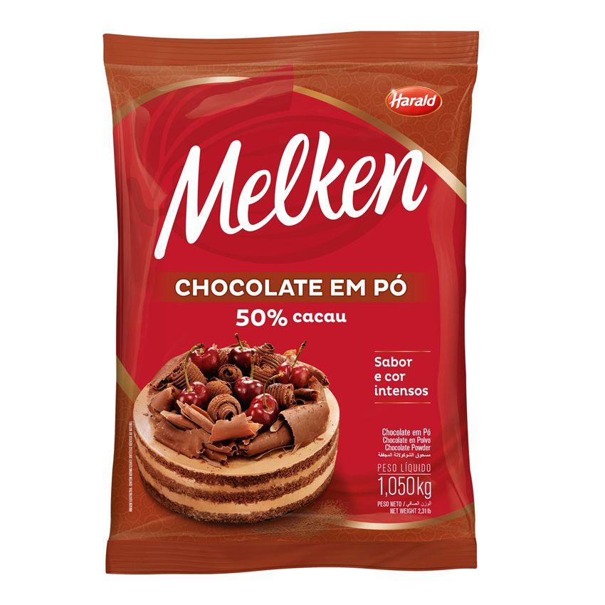 Chocolate em Pó 50% Cacau 1,05kg Harald Melken