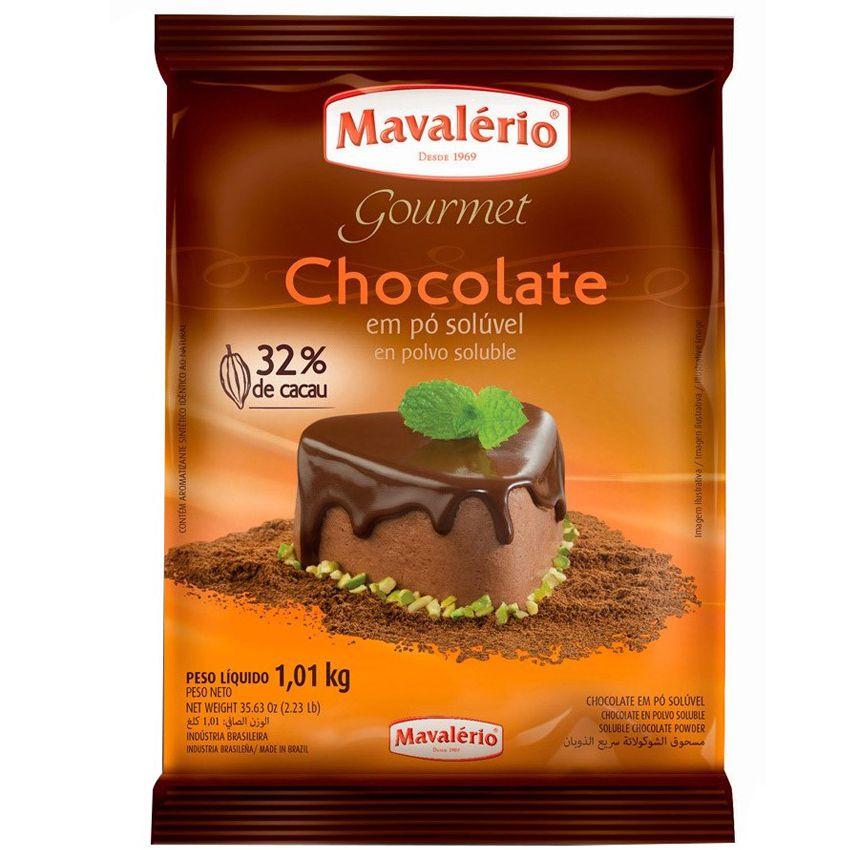 Chocolate em Pó Solúvel 32% Cacau 1,01kg Mavalério