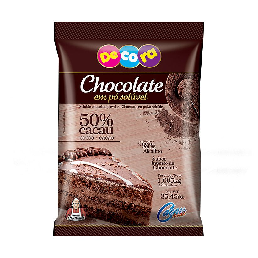 Chocolate em Pó Solúvel 50% Decora 1,005kg