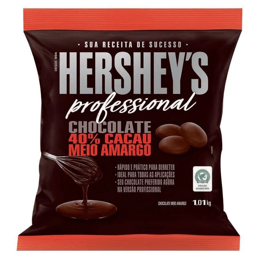 Chocolate Gotas Meio Amargo Hershey's Professional 1,01Kg