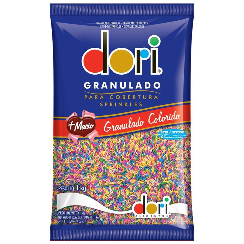 Chocolate Granulado Colorido 1Kg Dori