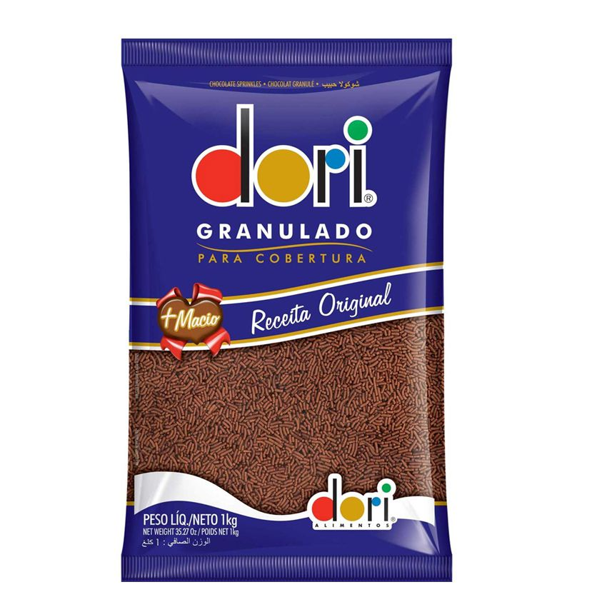 Chocolate Granulado Escuro 1,01kg Dori