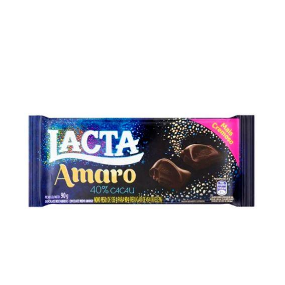 Chocolate Meio Amargo Amaro 40% Cacau 90g Lacta