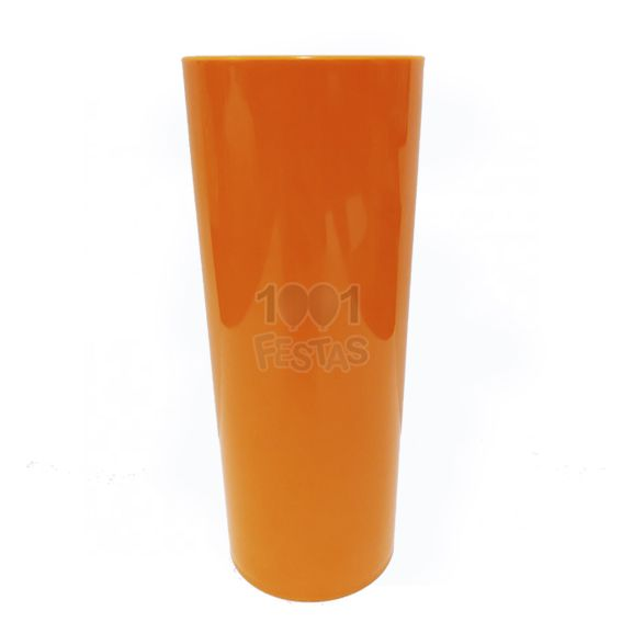 Copo 350ml Long Drink Laranja Neon Leitoso