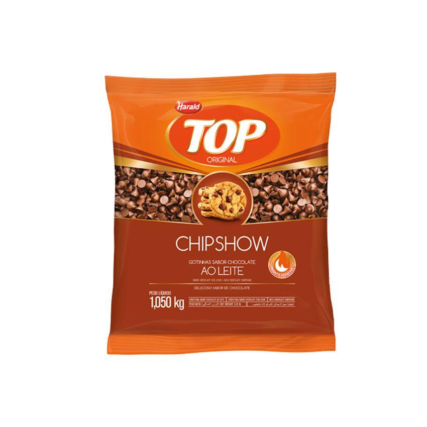 Cobertura Chipshow Gotinhas Sabor Chocolate Ao Leite 1,05 Kg Harald Top