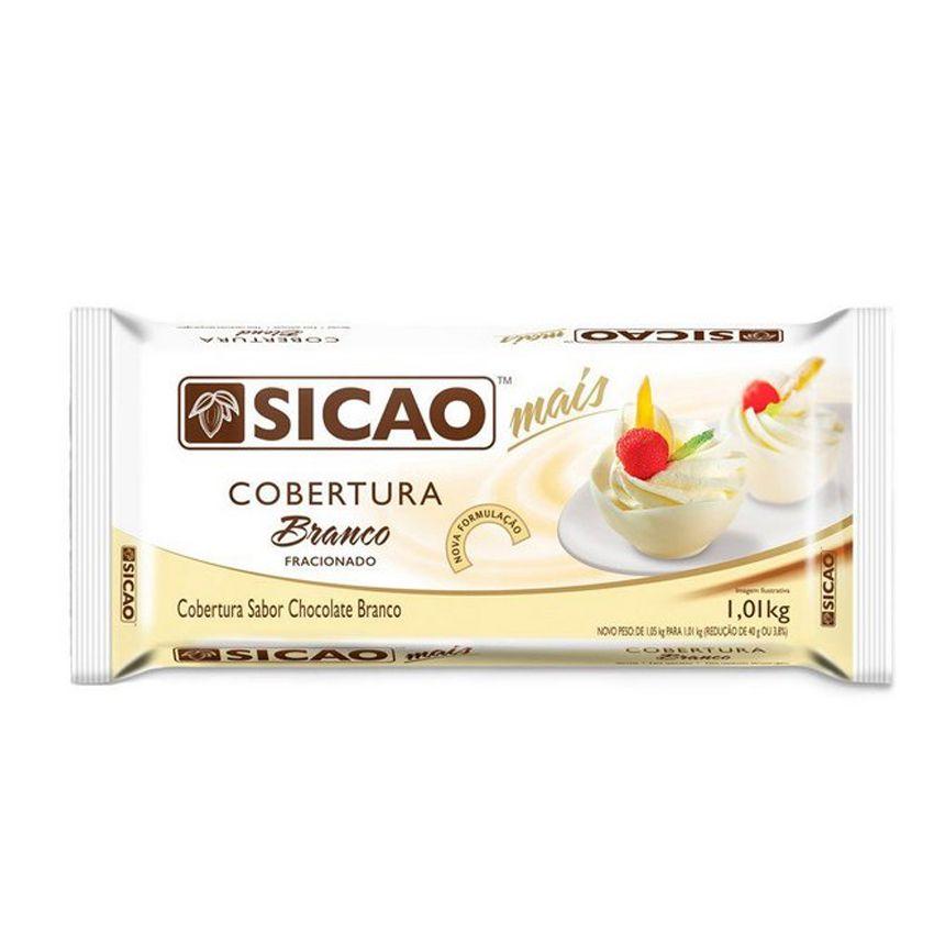 Cobertura Chocolate Branco Fracionado Sicao Mais 1,01Kg