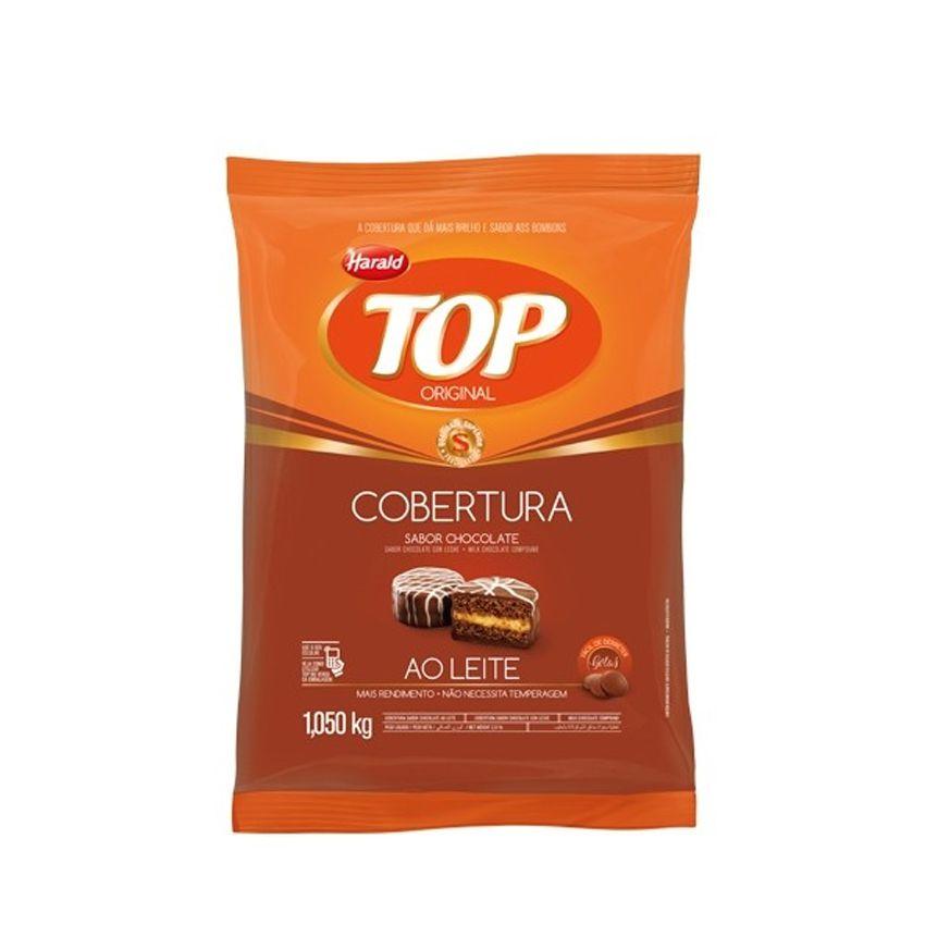 Cobertura Gotas Sabor Chocolate Ao Leite 1,05kg Harald Top