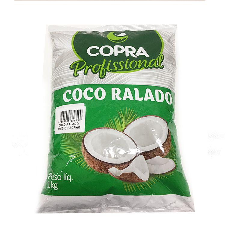 Coco Ralado Fino Úmido e Adoçado Copra 1Kg