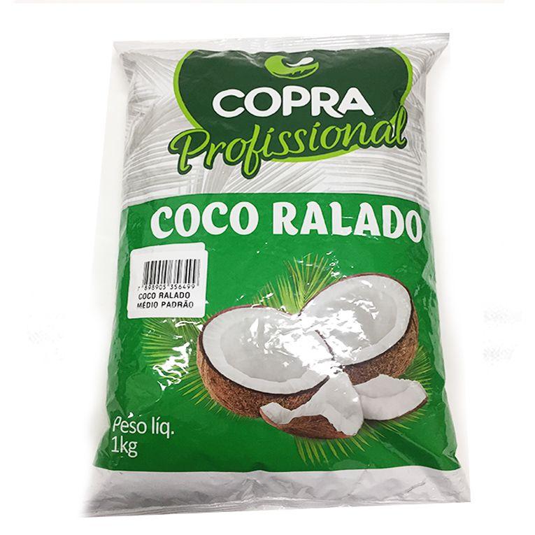 Coco Ralado Médio Padrão Copra 1kg