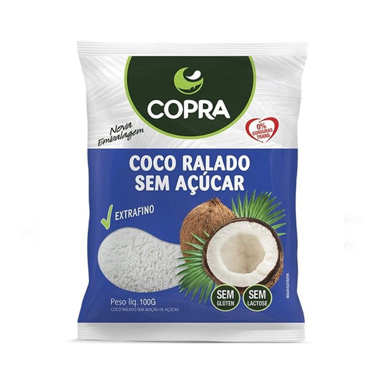 Coco Ralado Sem Açúcar Copra 100g