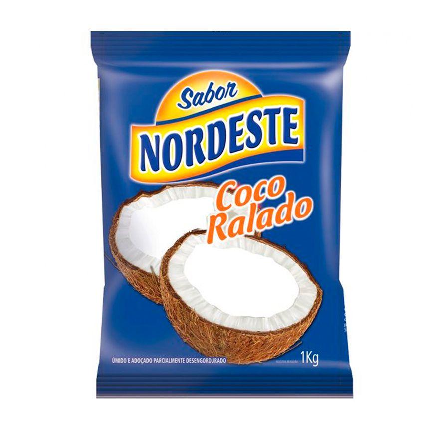 Coco Ralado Úmido e Adoçado Sabor Nordeste 1kg