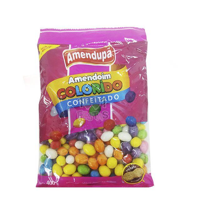 Confeito Amendoim Colorido 400g  Amendupã