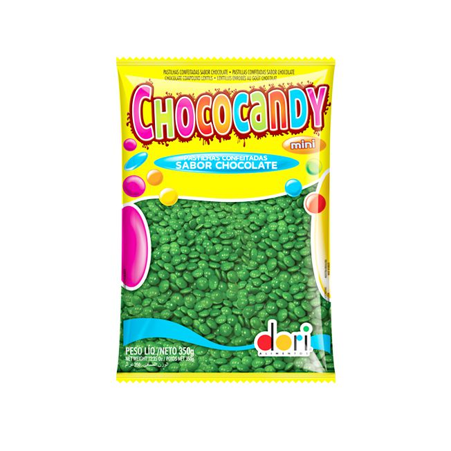 Confeito Chococandy Mini Verde 350g Dori