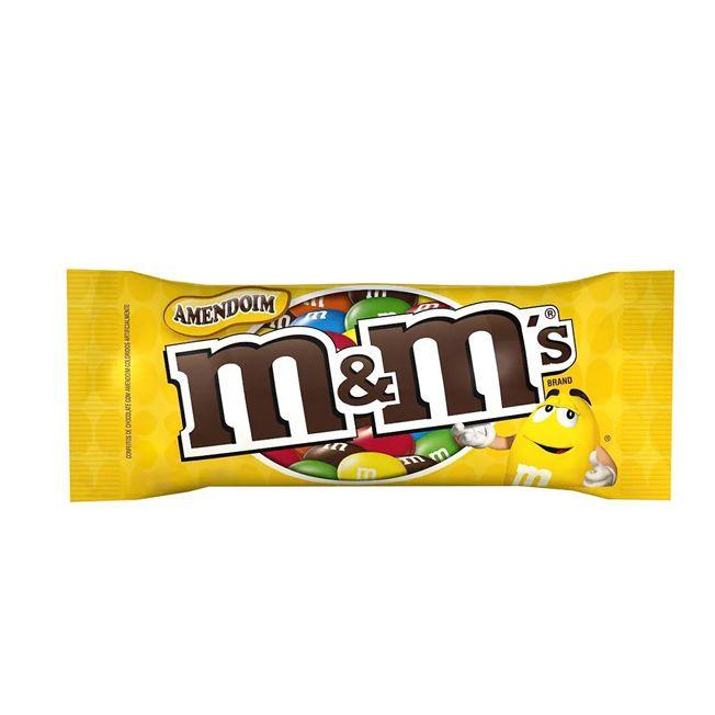 Confeito Chocolate m&m's Amendoim 45g