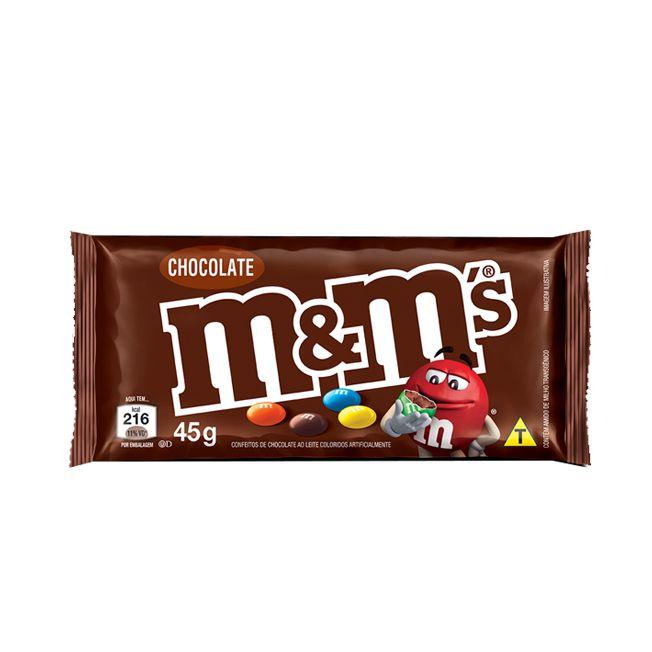 Confeito Chocolate m&m's Ao Leite 45g
