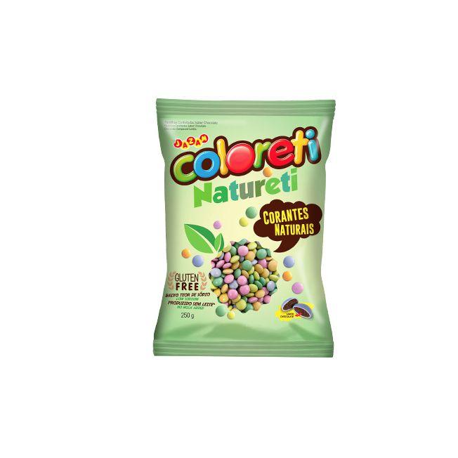 Confeito Coloreti Mini Natureti 250g Jazam