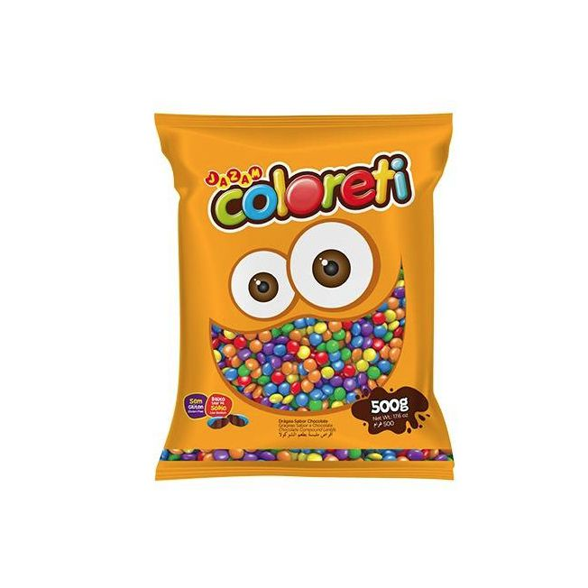 Confeito Coloreti Mini Sortido 500g Jazam