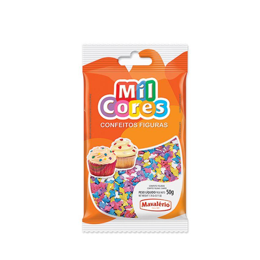 Confeito Figura 50g Borboleta Mil cores